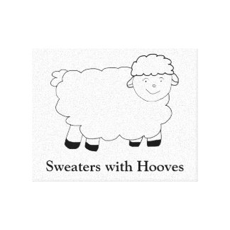 Sweaters With Hooves Canvas Prints