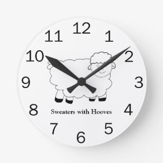Sweaters With Hooves Round Wallclocks