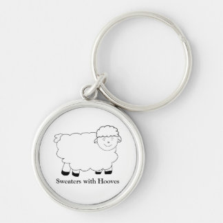 Sweaters With Hooves Silver-Colored Round Keychain