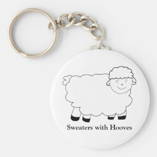 Sweaters With Hooves Basic Round Button Keychain