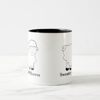 Sweaters With Hooves Two-Tone Coffee Mug