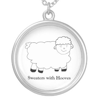 Sweaters With Hooves Round Pendant Necklace