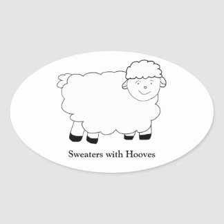 Sweaters With Hooves Oval Sticker