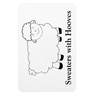 Sweaters With Hooves Rectangular Photo Magnet