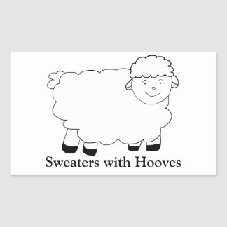Sweaters With Hooves Rectangular Sticker