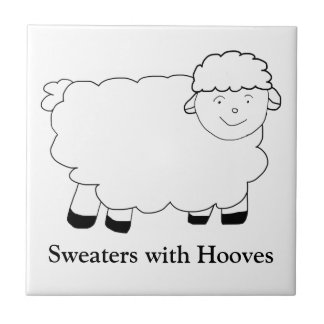 Sweaters With Hooves Small Square Tile