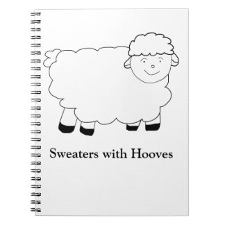 Sweaters With Hooves Spiral Note Books