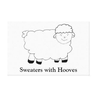 Sweaters With Hooves Stretched Canvas Prints