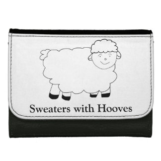 Sweaters With Hooves Leather Wallets