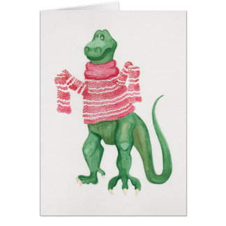 Sweatersaurus-Rex Greeting Card