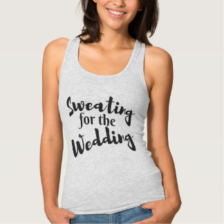 Sweating for the Wedding Workout Gray Tank Top