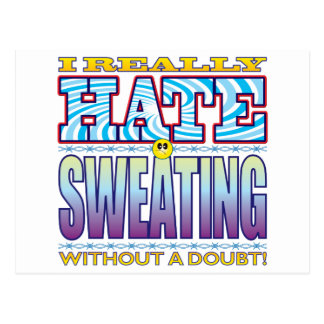Sweating Hate Face Postcard