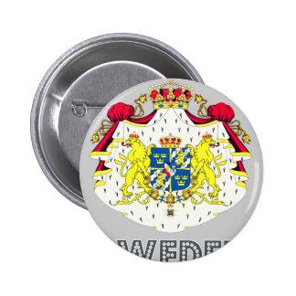 Swede Emblem Pinback Button