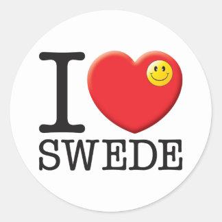 Swede Round Sticker