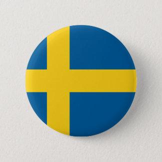 sweden 6 cm round badge