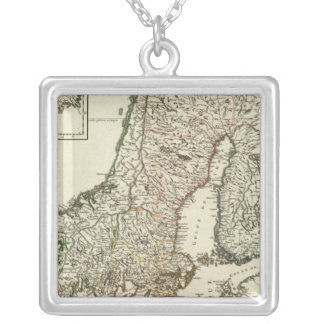 Sweden and Norway 10 Silver Plated Necklace