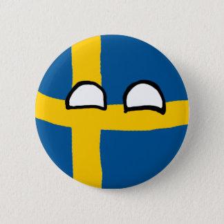 Sweden Ball 6 Cm Round Badge