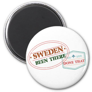Sweden Been There Done That 6 Cm Round Magnet