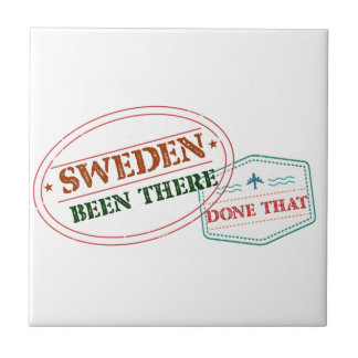 Sweden Been There Done That Small Square Tile