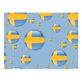 Sweden Bubble Flag Postcard
