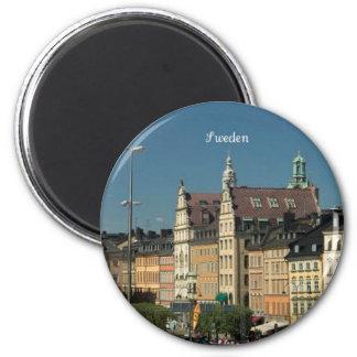 Sweden cityscape refrigerator magnet