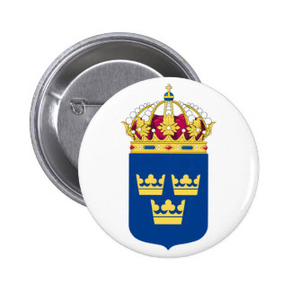 Sweden Coat of Arms Button