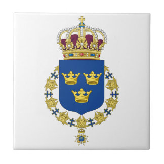 Sweden Coat of Arms Ceramic Tile