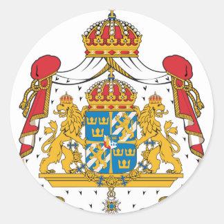 Sweden Coat Of Arms Round Sticker