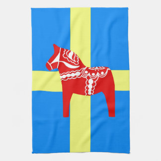 Sweden Dala Horse Kitchen Towels