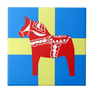 Sweden Dala Horse Small Square Tile