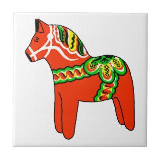 Sweden Dala Horse Small Square Tile