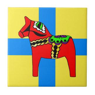 Sweden Dala Horse Tiles