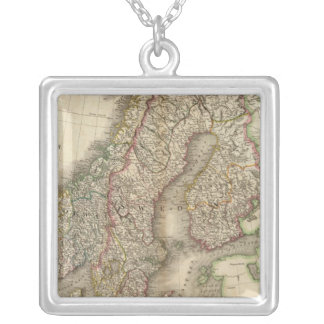 Sweden, Denmark and Norway Silver Plated Necklace