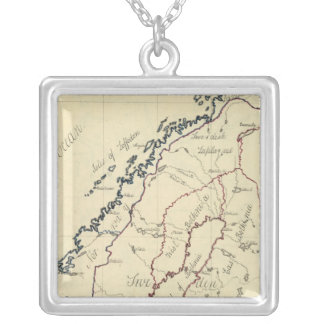 Sweden, Denmark, Norway 2 Silver Plated Necklace