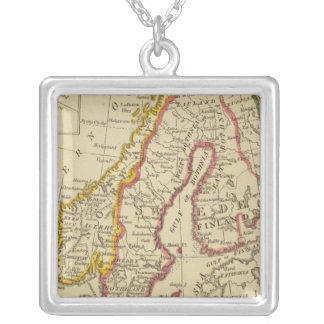 Sweden, Denmark, Norway, Finland, Iceland Silver Plated Necklace