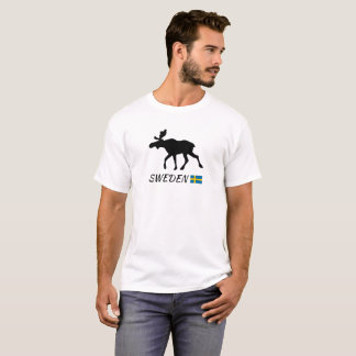 Sweden Elk and flag T-Shirt