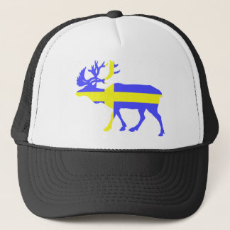 Sweden Elk Trucker Hat