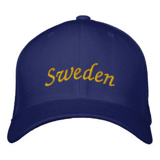 Sweden Embroidered Hat