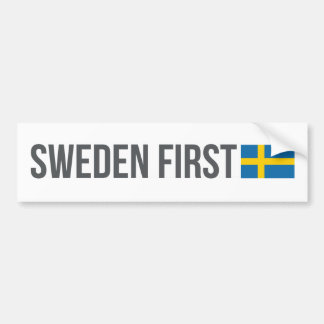 Sweden First swedish flag MSGA Bumper Sticker