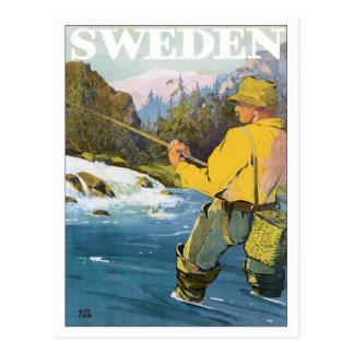 Sweden Fishing Postcard