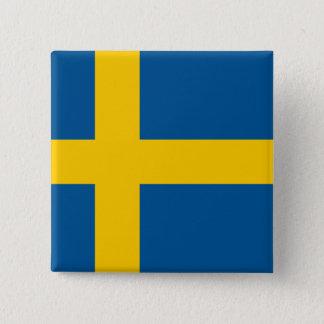 Sweden Flag 15 Cm Square Badge