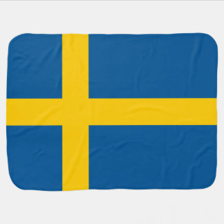 Sweden Flag Baby Blanket