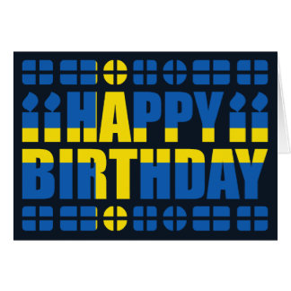 Sweden Flag Birthday Card