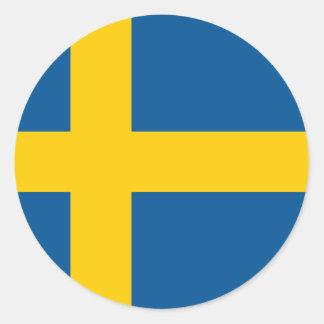 Sweden Flag Classic Round Sticker