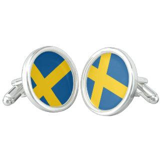 Sweden Flag Cuff Links