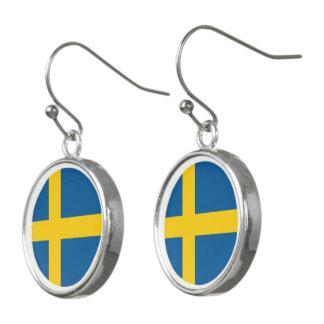 Sweden Flag Earrings