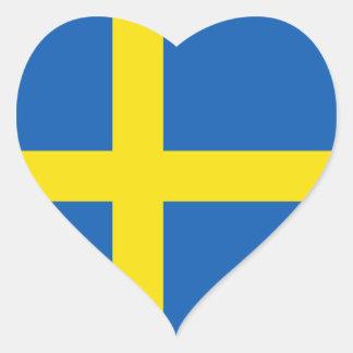 Sweden Flag Heart Sticker
