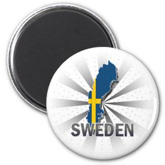 Sweden Flag Map 2.0 Magnet