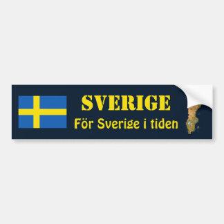 Sweden Flag + Map Bumper Sticker