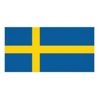 Sweden Flag Personalized Photo Card